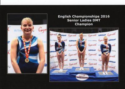 English Championships - Becky Jarrett - Gold Senior DMT - Champion
