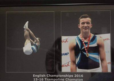English Championships - Zach King - Silver Trampoline 15-16 Champion